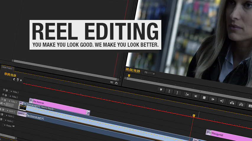 Reel editing services by Intrepid Tapes
